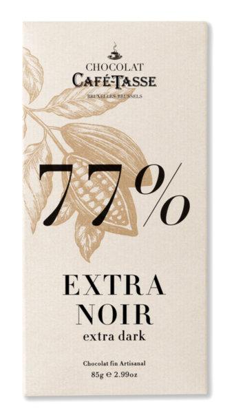 Café-Tasse белгийски шоколад-черен 77%